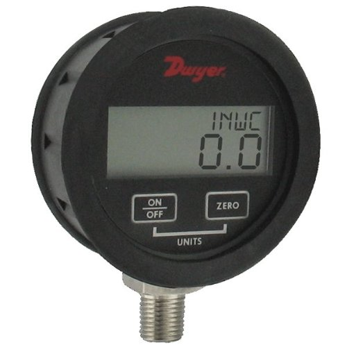 Dwyer DPGAB Series Digital Pressure Gauge with Boot, Water, Range 0 to 50 psig by Dwyer