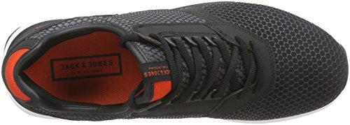 JACK & JONES Jjinvictus Kurim Finemold Sneaker - Zapatillas Hombre Gris - Grau (Anthracite)