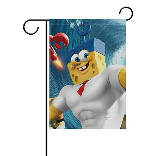 AfdsaswfvsJj Muscle Spongebob Black Welcome Personalized Garden Flag Vertical Double Sided Yard Flags Outdoor Decorative House Yard Flag 12x18 Inch Polyester Durable]()