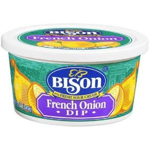 Buffalo's Own Bison Brand French Onion Chip Dip 4 Pack FREE OVERNIGHT SHIPPING by Bison