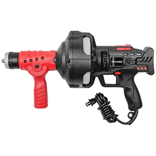 STKUSA 25' Handheld Portable Drain Auger Corded Operated Snake Sink Clog Pipe Cleaner Plumbing Power Tool by STKUSA