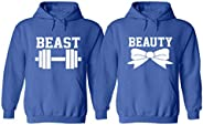 Live Free Beast Beauty Couple Hoodie - Beauty and Beast Matching Gym Sweater (Priced for 1 Hoodie)