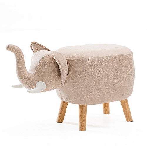 (Paddia Children's Cartoon Animal Stool Home Baby Cattle Stool Creative Bench Fashion Fabric Stool Visual Taste Footstool Stool Storage Changing Shoes Solid Wood Creative Hippo Modeling Decorative)