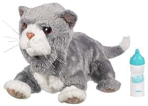 Fur Real Friends Recien nacidos (H) Gato - Mascota de peluche bebé con sonido y movimiento, color gris (Hasbro)
