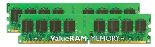 (Kingston ValueRAM 2GB 400MHz DDR2 Non-ECC CL3 DIMM (Kit of 2) Desktop Memory)