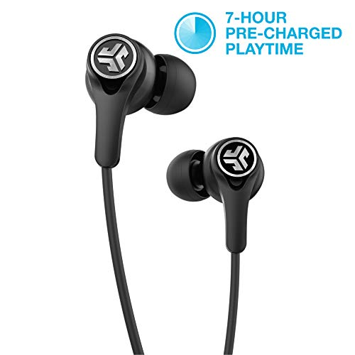 (JLab Audio Epic Executive Wireless Active Noise Canceling Earbuds | Bluetooth 4.1 | 11-Hour Battery Life | Universal Music Control | Bluetooth Headphones, Travel Case Included | Black)