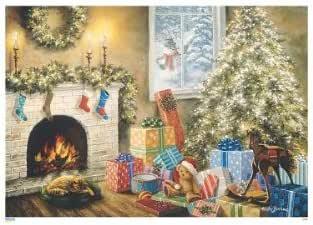 Amazon.com: Glitter-Dusted Advent Calendar, Nostalgic