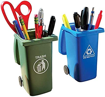 Bigmouth Inc Mini Trash And Recycling Bins Desk Caddy Set