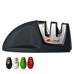 MOUSE Kompakter Messerschärfer von Uulki® - Passt in jede Schublade (Schwarz)