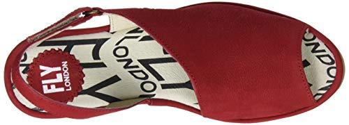 De Red 012 Abierto Sandalias lipstick Talón Palp814fly Para London Fly Rojo Mujer q6vxwt1PA