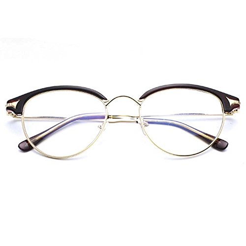 LOMOL Girls Retro Classic Personality Student Style Transparent Lens Frame - Nerd Can Glasses Find I Where