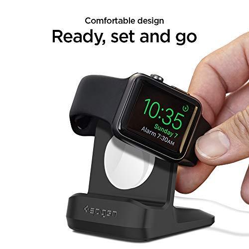 Spigen S350 diseñado para Apple Watch Stand con modo Mesita de noche para Series 4 /Series 3 /Series 2 /Series 1 /44mm /42mm /40mm /38mm, patente pendiente - Negro