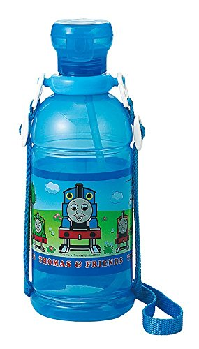 Osk Engine (Thomas the Tank Engine Water Bottle with Flip Cover, Strap and Straw (Japan Import))