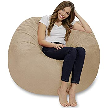 Amazon.com: Puf de espuma viscoelástica gigante de 5.0 in ...
