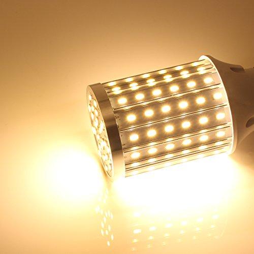 Mininono High Power LED Bulb 25W Aluminum High Power Corn Light Bulb, 108LEDs 200W Halogen Bulbs Replacement, Warm White 3000K Medium Edison E26/E27 Base Super Bright LED Lamp by Mininono (Image #8)