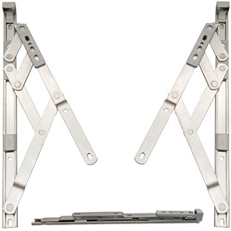 . Designed to stay open in any position due to friction Pair of 13mm x 8 inch Top Hung Window Stays//Friction Hinges 209mm for uPVC or Aluminium profiled windows