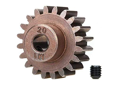 20t Gear - Traxxas 6494X 20-T Pinion Gear, 1.0 Metric Pitch, Fits 5Mm Shaft (Compatible with Steel Spur Gears) Vehicle
