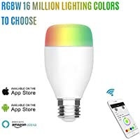 9W LED Wifi Color Light Bulb Smart Home Kit Compatible Wi-Fi Light, Multicolored LED Bulbs, A19 LED Dimmable 60W Equivalent(9W), Smartphone Controlled Daylight & Night Light, Home Lighting Works with