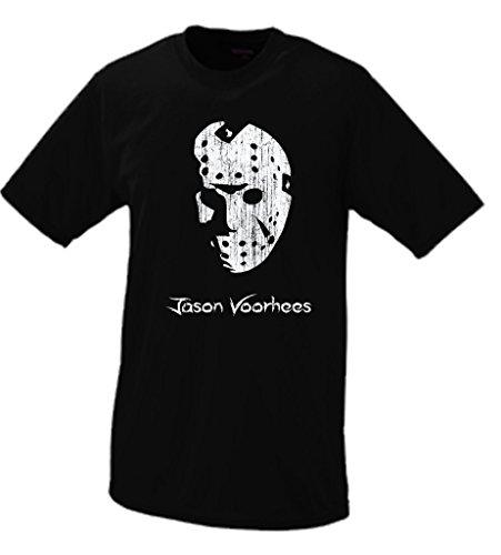 Jason Voorhees Portrait T-shirt X Black (Jason Voorhees Clothes)