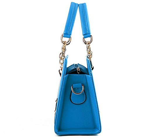 Totebag Fashion Borsa Chain black Tracolla Lady Yxiaol Tracolla Lightblue A w1aq7xH