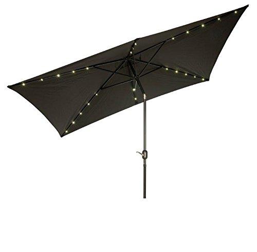 Rectangular Led Umbrella: Trademark Innovations Rectangular Solar Powered LED