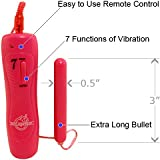 Doc Johnson 7 Function Wonder Bullet Xtra Long, Pink