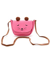 OHTOP Faux Leather Lovely Cat Handbags Single Shoulder Purse Children Students Girls