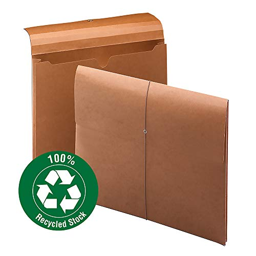"Smead 100% Recycled Expanding File Wallet with  Closure, 2"" Expansion, Letter Size, Elastic Closure, Redrope, 10 per Box (77170)"