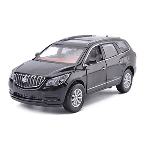 JIANPING Car Model Car 1:32 Anke Off-Road Vehicle Simulation Alloy Die-Casting Toy Ornaments Sports Car Collection Jewelry Black/White 15x6x5.5CM Model car (Color : Black)