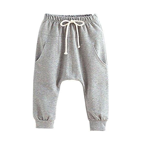 Soly Tech Unisex Baby Kid Toddler Cotton Jersey Harem Pants Elastic (Unisex Jersey Knit Pants)