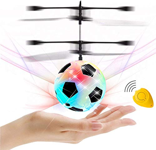 GreaSmart Flying Ball, Kids Soccer Toys Hand Control Helicopter Light Up Ball Mini Drone Magic RC Toys Kids Holiday Toy…
