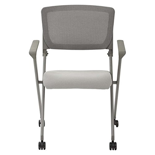 Folding Chair Set Of 2 Folding Office Gray Mesh Back And