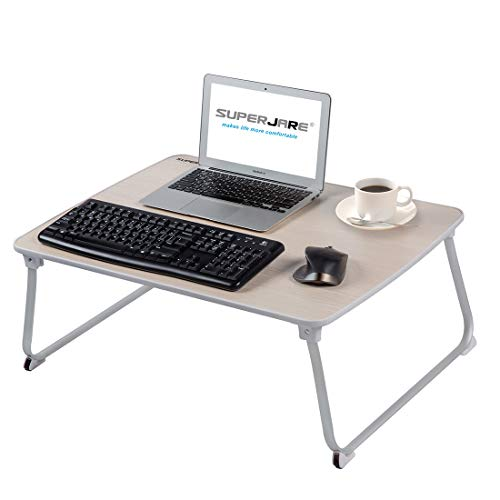 - SUPERJARE [Extra Large] Bed Table for Laptop, Drawing/Coloring/Sketching/Writing Table or PC Game Purposes, Portable Outdoor Camping Table - Beige