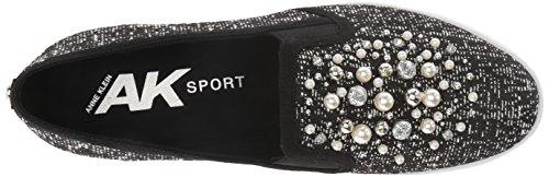 Black Fabric Sneaker White Women Klein AK Yevella Sport Multi Anne pY1Zwqw