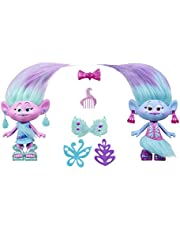 DreamWorks Trolls - Fashion Twins Satin and Chenille Style Pack inc 2 Outfits & 5 Accessories