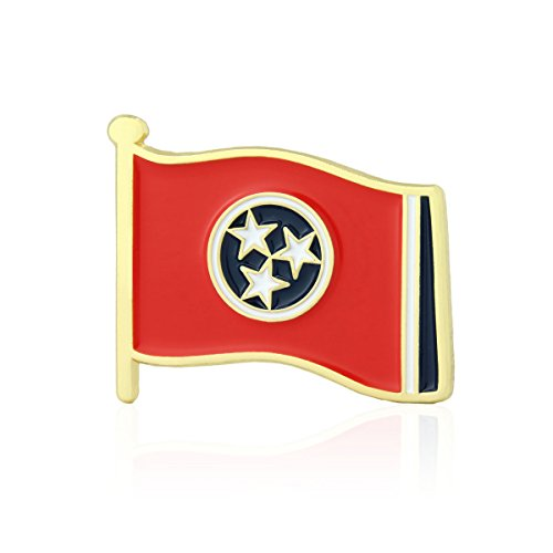 GS-JJ Tennessee Flag Enamel Lapel Pin (10 - Lapel Volunteers Tennessee Pins