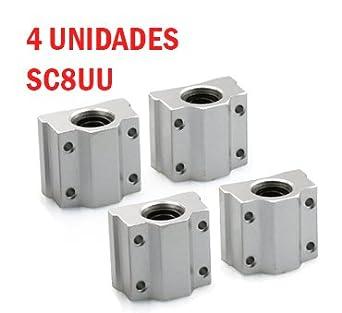 4 PCS Rodamientos SCS8UU cojinete lineal impresora 3D - Linear ...