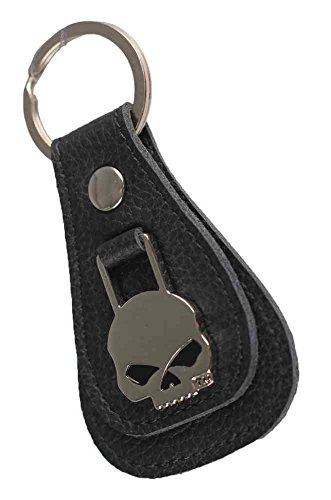 Harley-Davidson Willie G Skull Medallion Teardrop Key Chain, Black XFL0023-BLACK