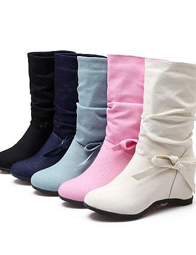 de dark dark Cuñas Zapatos us10 blue Vestido Cuña Tacón Punta Moda uk8 Beige la us10 a Azul mujer Casual blue 5 cn43 Tela Redonda XZZ cn35 uk3 Botas Botas 5 eu36 Negro 5 Rosa eu42 5 pink us5 qRwf55