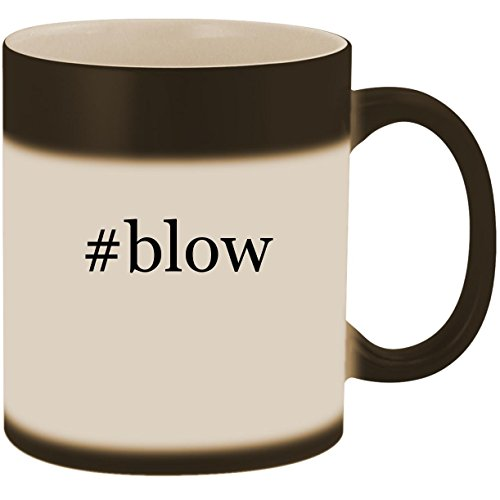 #blow - 11oz Ceramic Color Changing Heat Sensitive Coffee Mug Cup, Matte Black