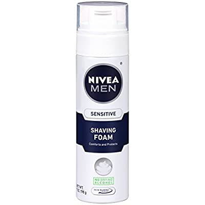 NIVEA Men Sensitive Shaving Foam 7 Ounce (Pack of 6)