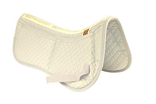 ecp-cotton-correction-half-saddle-pad-memory-foam-pockets-white