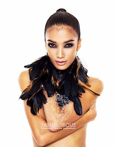 Feather Earrings Black Long Feather Earrings for Women Real Feather Earrings
