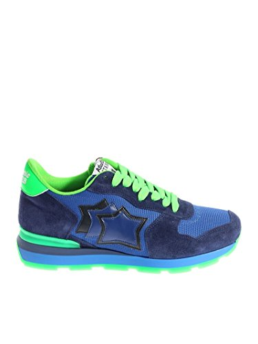 Atlantic Stars Men's ANTARAM38VF Blue Leather Sneakers t7WCtkmbu