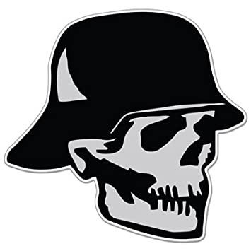 German soldier skull wwii evil vinyl sticker car phone helmet select size