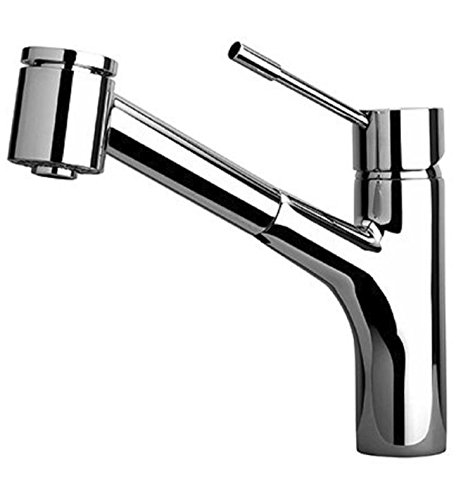 LaToscana 78CR576 Elba Single Handle Pull-Out Kitchen Faucet with 2 Function Sprayer, Chrome Finish