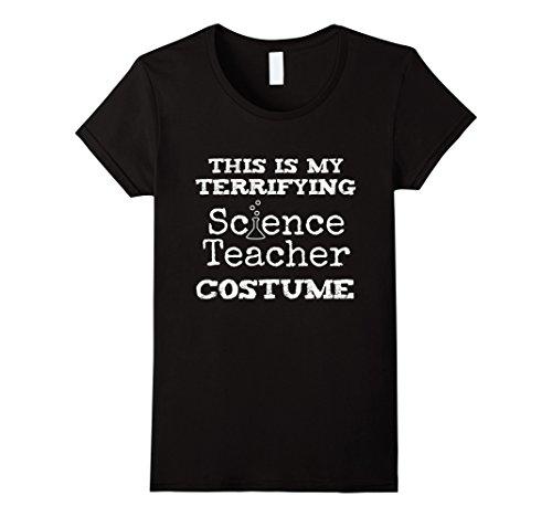 Womens Terrifying Science Teacher Halloween Costume T Shirt Large Black (Terrifying Halloween Costumes)