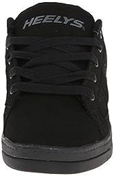 Heelys Split Skate Shoe (Toddler/Little Kid/Big Kid), Black/Black, 8 M US Big Kid