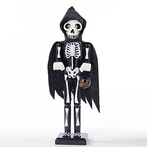 Kurt Adler Wooden Halloween Skeleton Nutcracker,