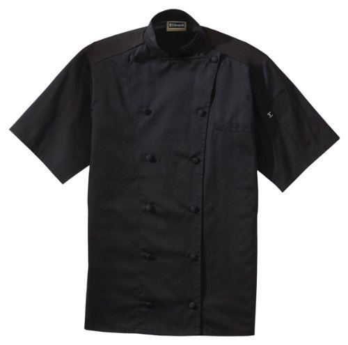 ed-garments-classic-short-sleeves-chef-coat-with-back-mesh-black-xxxx-large